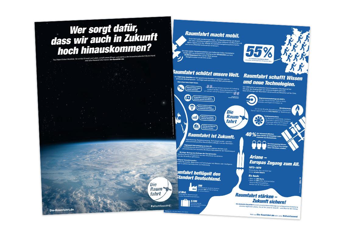 Broschüre zum Thema Raumfahrt