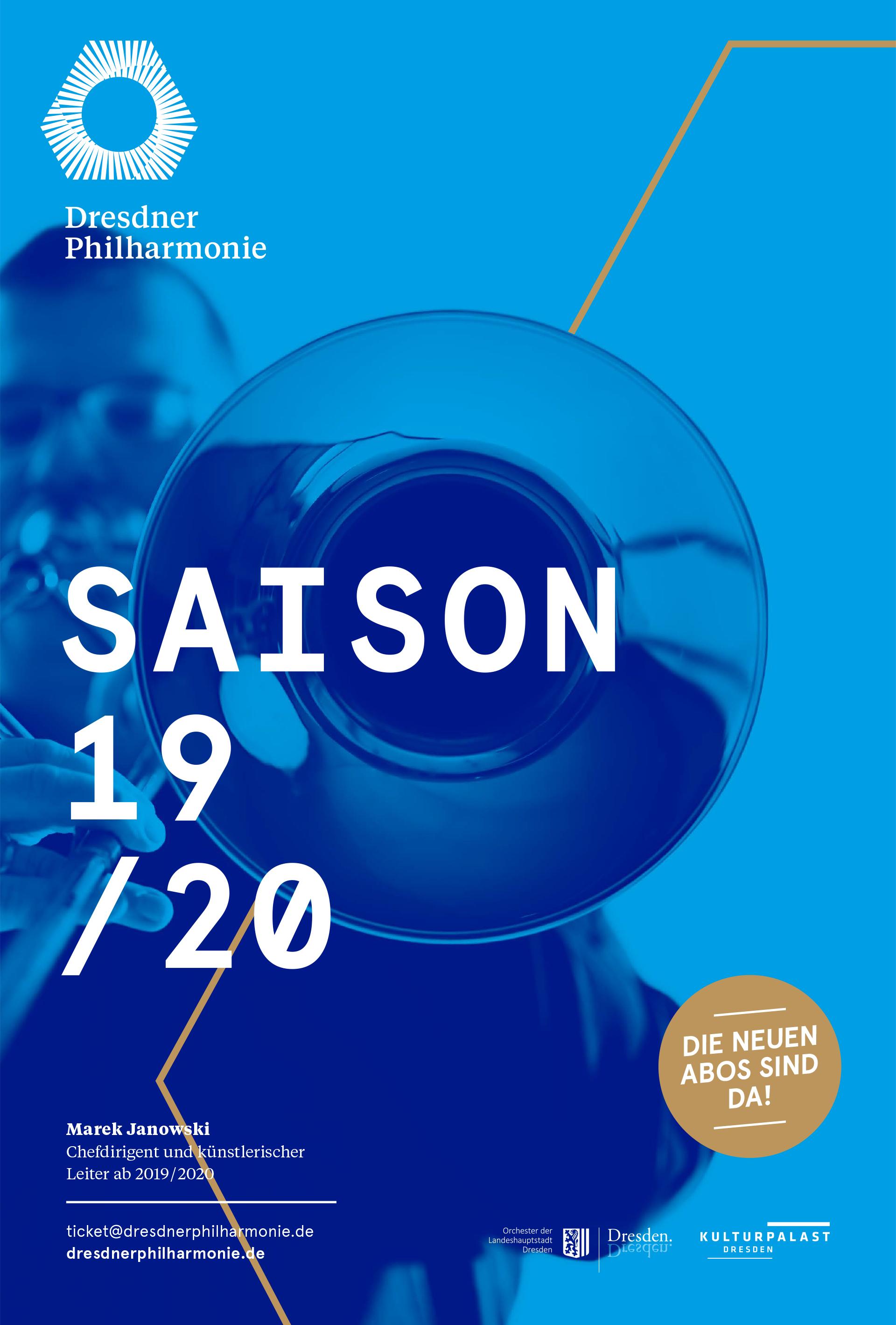 Dresdner Philharmonie Saisonplakat 2019/20.